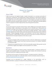 Small Grants Program | CASJE